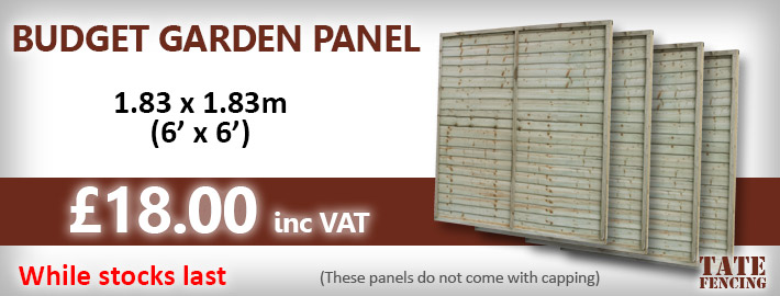 Budget Garden Fence Panel