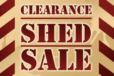 Clearance shed sale