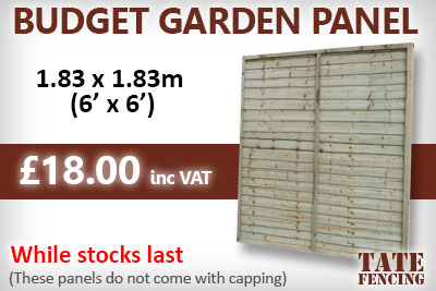 Tate Fencing Budget Garden Panels 6' x 6'