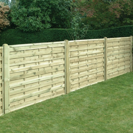 The Milano garden panel installed as a run of fencing.