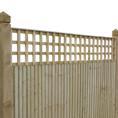 Fencing Tate Square Hole Bay Top Trellis Installed With Closeboard Detail