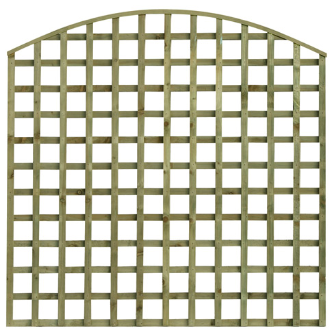 tate bow top square hole trellis garden panel tate fencing