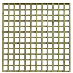 scalloped top square hole trellis garden panel tate fencing