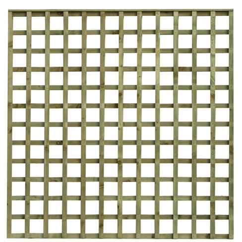 flat top square hole trellis garden panel tate fencing