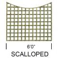 TATE Standard Square Scallop top Trellis Panel
