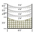 Tate fencing square hole trellis scallop top specifications