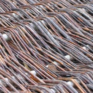 Willow Hurdle Panel detailing
