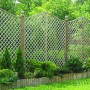 English Rose Omega Top Trellis installed in fence run