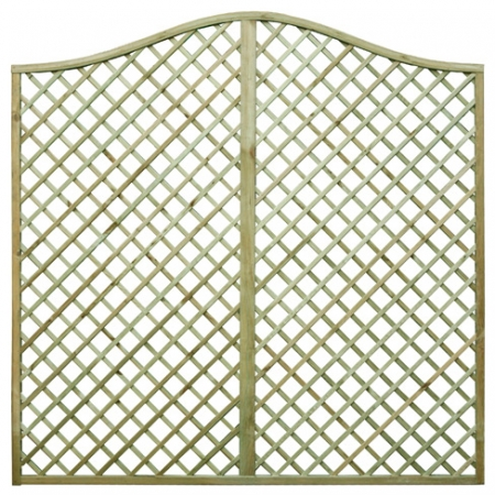 English Rose Omega Top Trellis Panel