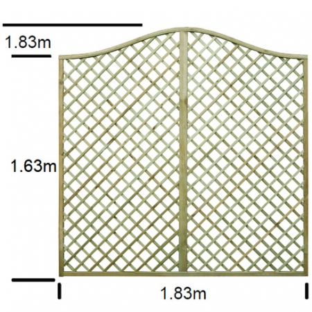 English Rose Omega Top Trellis Specifications