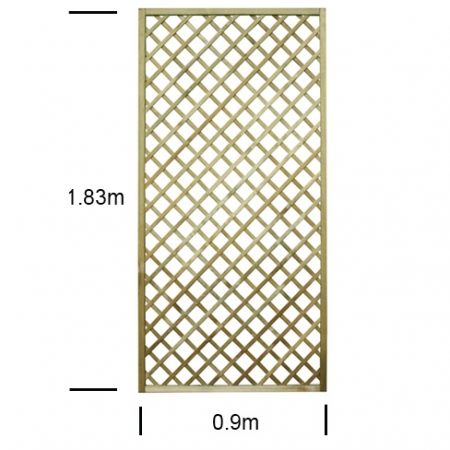 English Rose 3ft wide x 6ft high trellis panel