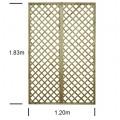 English Rose 4ft wide x 6ft high trellis panel