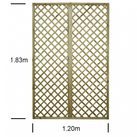 English Rose 4ft wide x 6ft high trellis panel