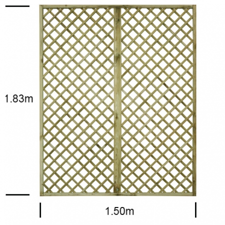 English Rose 5ft wide x 6ft high trellis panel