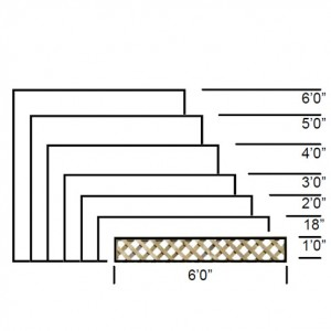 TATE Heavy Diamond Trellis panel specifications