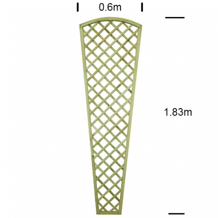 English Rose Wall Trellis 600mm wide specifications