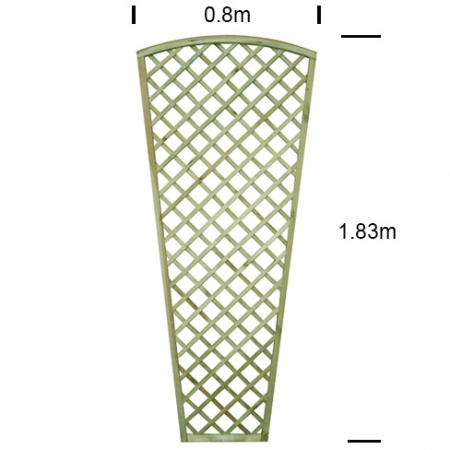 English Rose Wall Trellis 800mm wide specifications