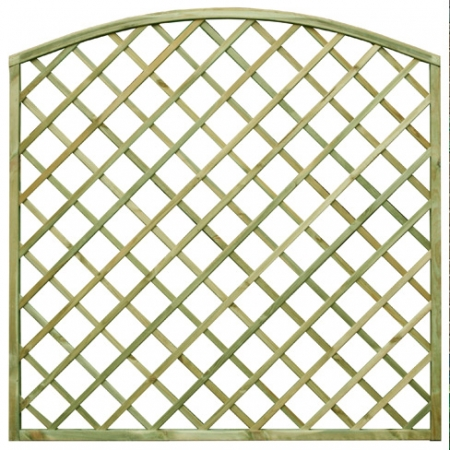 Regal Bow top diamond trellis panel