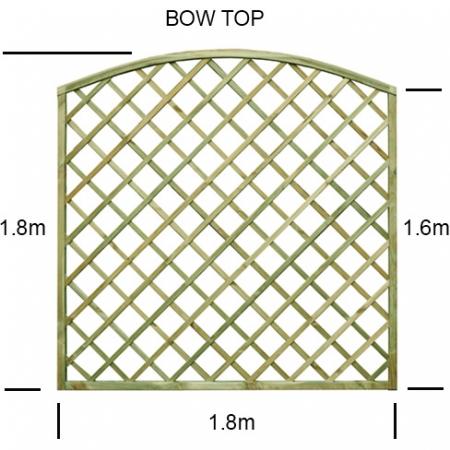 Regal Bow top diamond trellis panel specification