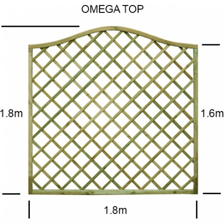 Regal Omega top diamond trellis panel specification