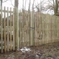 PAR (prepared finish) Round Top Palisades with gate