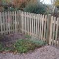 Round Top Palisade fence run - corner detail