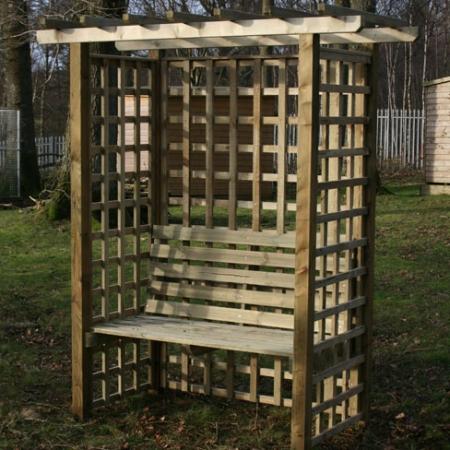 Somerset Arbour Seat in garden