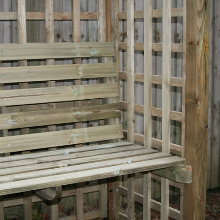Somerset Arbour Seat - seat and trellis detail