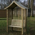 Wiltshire Arbour Seat installed