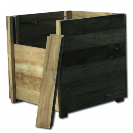 Compost Bin with removable slatted front