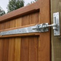 Tate fencing 2 way adjustable hinges, installed on a pair of our gates