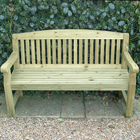 Medium Garden Bench Seat Garden Furniture TATE Fencing