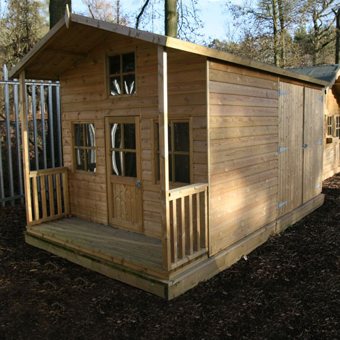 wooden shed design playhouse garden shed combination