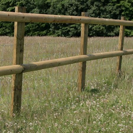 Half Round Post and Rail installed