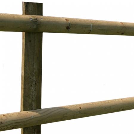 Half Round Post and Rail detail