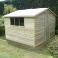 Large gable shiplap shed