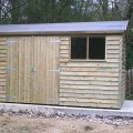 Gable weatherboard shed