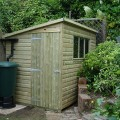Pent Shiplap Shed installed