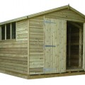 Gable Weatherboard Shed example