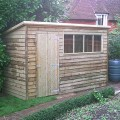 Pent Weatherboard Shed example