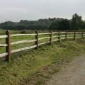 Installed chestnut rails on softwood posts