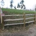 3 chestnut rails on softwood posts