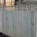 Closeboard Kit form with 300mm trellis installed in garden