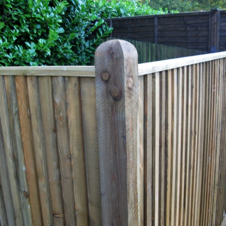 Closeboard with Counter Rail and Capping Kit Form installed - corner detail