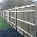 Closeboard with Counter Rail and Capping Kit Form installed with round top posts - back view