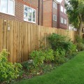 Standard Closeboard Kit Form installed in garden