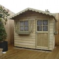 TATE Wendy House, installed onto decked area