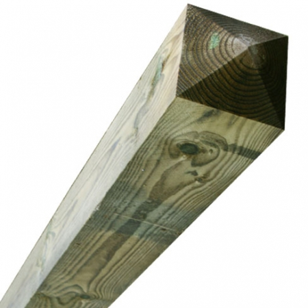 sawn timber fence post 175 x 175mm comes with a four way pointed top at this length