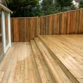 Grooved and reeded premium stepping decking installed for a customer