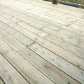 close up detailed view of our grooved and reeded decking